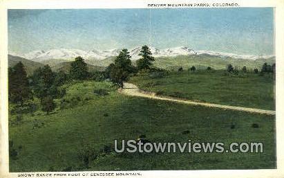 Genesse Mountain - Denver Mountain Parks, Colorado CO Postcard