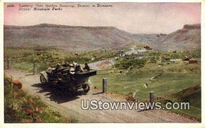 Golden Gateway - Denver Mountain Parks, Colorado CO Postcard