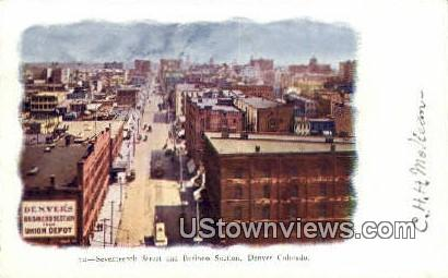 17th Street - Denver, Colorado CO Postcard