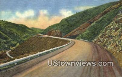 Mt. Vernon Canon - Denver Mountain Parks, Colorado CO Postcard