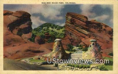 Red Rocks Park - Denver Mountain Parks, Colorado CO Postcard