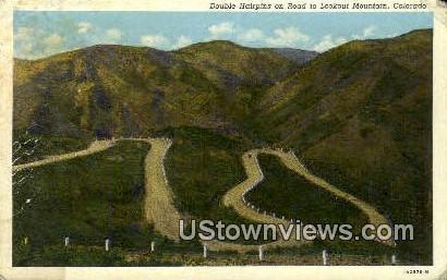 Double Hairpins - Denver Mountain Parks, Colorado CO Postcard