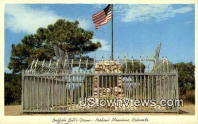 Buffalo Bills' Grave - Lookout Mt, Colorado CO Postcard
