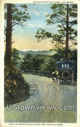 Lookout Road - Denver Mountain Parks, Colorado CO Postcard