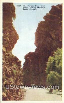 Portals, Bear Creek Canon - Denver Mountain Parks, Colorado CO Postcard