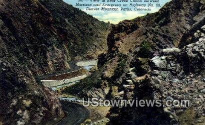 Bear Creek Canon - Denver Mountain Parks, Colorado CO Postcard