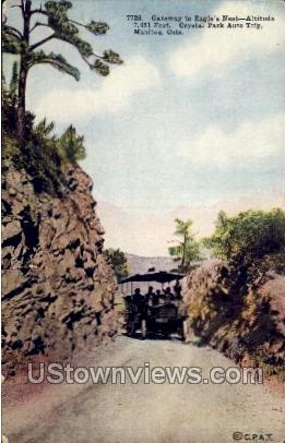 Gateway to Eagle's Nest - Manitou, Colorado CO Postcard