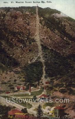 Scenic Incline - Manitou, Colorado CO Postcard