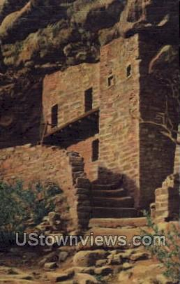Balcony House Ruins - Manitou, Colorado CO Postcard