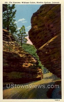 The Narrows, William Canon - Manitou, Colorado CO Postcard