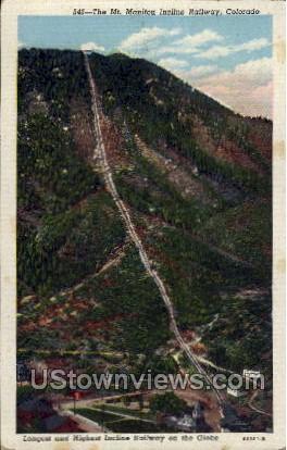 Incline Railway - Manitou, Colorado CO Postcard
