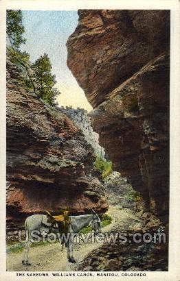 The Narrows, Williams Canon - Manitou, Colorado CO Postcard