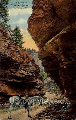 The Narrows Williams Canon - Manitou, Colorado CO Postcard