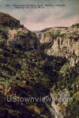 Picturesque Williams Canon - Manitou, Colorado CO Postcard