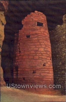 Watch Tower in Ancient Ruins  - Manitou, Colorado CO Postcard