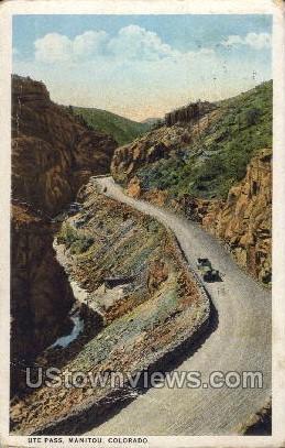 Ute Pass - Manitou, Colorado CO Postcard