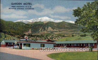 Garden Motel - Manitou, Colorado CO Postcard