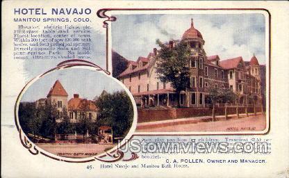 Hotel Navajo - Manitou, Colorado CO Postcard