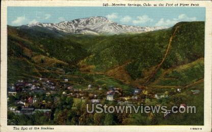 Foot of Pikes Peak - Manitou, Colorado CO Postcard