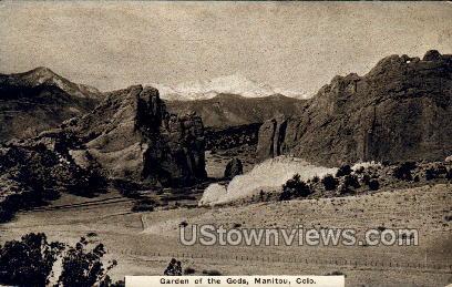 Garden of The Gods - Manitou, Colorado CO Postcard