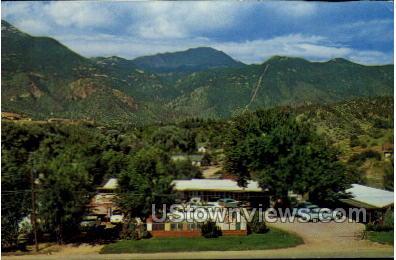 Avon Village Motel - Manitou, Colorado CO Postcard