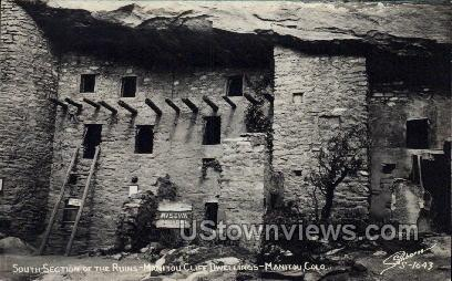 Sout Sections of The Ruins, Cliff Dwellings - Manitou, Colorado CO Postcard