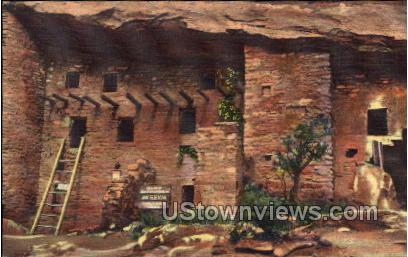 Spruce Tree House and South Section of Ruins - Manitou, Colorado CO Postcard