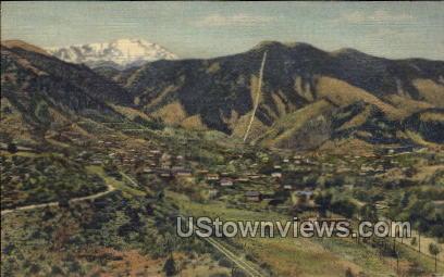 Incline and Pikes Peak  - Manitou, Colorado CO Postcard