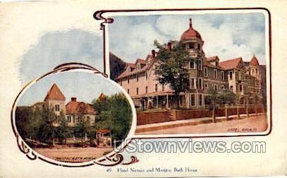 Hotel Navajo and Bath House - Manitou, Colorado CO Postcard