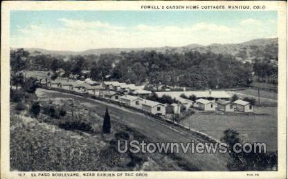 Powell's Garden Home Cottage - Manitou, Colorado CO Postcard