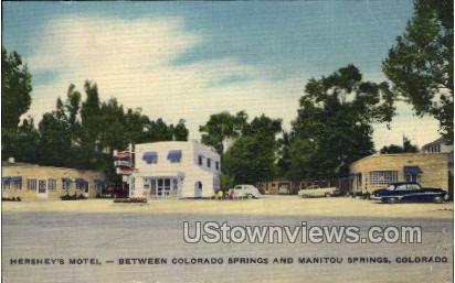 Hershey's Motel - Manitou, Colorado CO Postcard