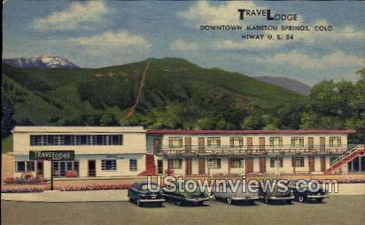 Travel Lodge - Manitou, Colorado CO Postcard