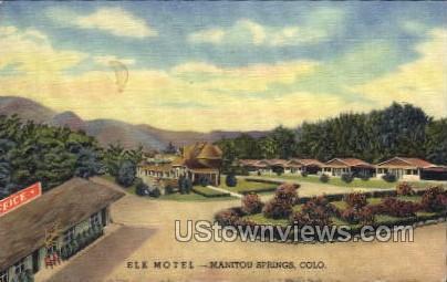 Elk Motel - Manitou, Colorado CO Postcard