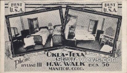 Okla-Texa Courts H.W Walk - Manitou, Colorado CO Postcard