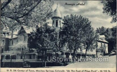 Center of Town - Manitou, Colorado CO Postcard