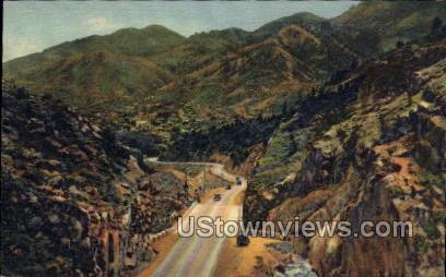 Hills Seen from Ute Pass - Manitou, Colorado CO Postcard