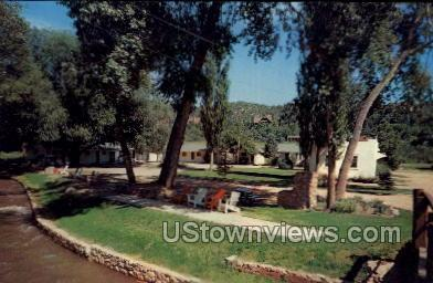 Green Willow Motel - Manitou, Colorado CO Postcard