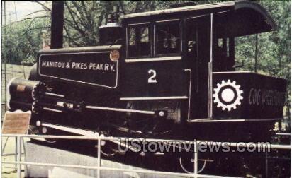 Cog Railway Locomotive - Manitou, Colorado CO Postcard