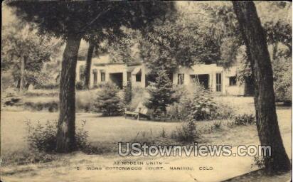 Modern Units, Iron Cottonwood Court - Manitou, Colorado CO Postcard
