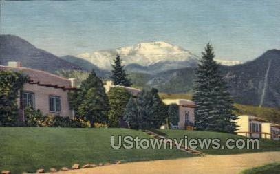El Colorado Lodge and Coffee Shop - Manitou Postcard
