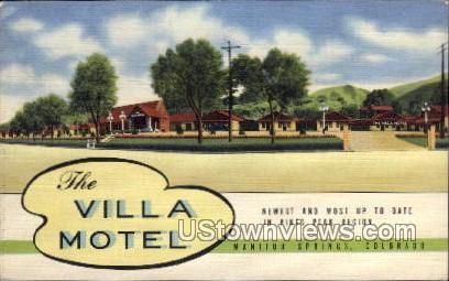 The Villa Motel - Manitou, Colorado CO Postcard
