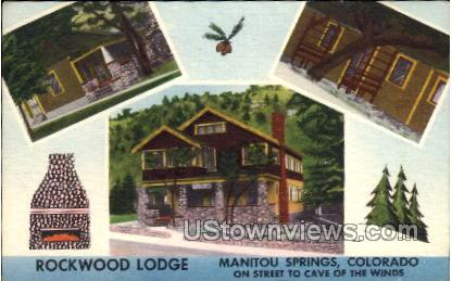 Rockwood Lodge - Manitou, Colorado CO Postcard