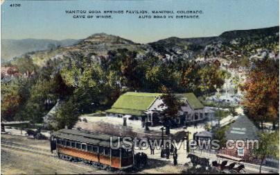 Soda Springs Paviliqn - Manitou, Colorado CO Postcard