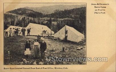 Jones & Drennan's Burro camp - Manitou, Colorado CO Postcard