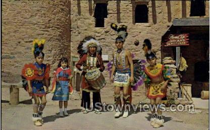 The Tewa Indian Dancers - Manitou, Colorado CO Postcard