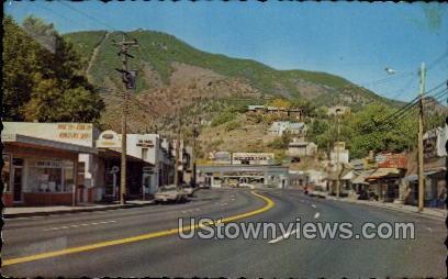 Business District - Manitou, Colorado CO Postcard
