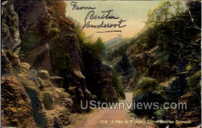 A View in Williams Canon  - Manitou, Colorado CO Postcard