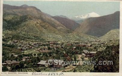 Manitou - Colorado CO Postcard