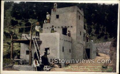 Indian Pueblo, Phantom Canon, Ancient  - Manitou, Colorado CO Postcard