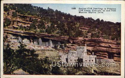 Ancient Cliff Dwells - Manitou, Colorado CO Postcard